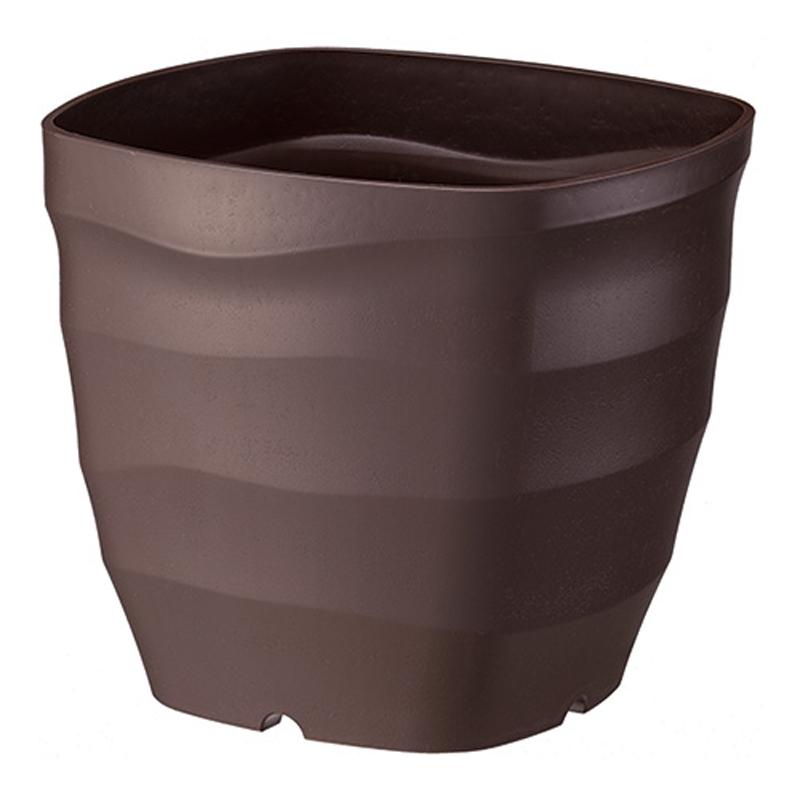 40個 フレグラースクエアポット 24型 ダークブラウン ポット 鉢 おしゃれ ガーデニング 素焼き感 ヤマト タ種 代引不可 大和