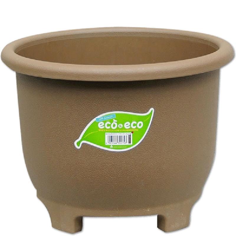 【30個】 eco&ecoウインプランター 丸27型 エコブラウン ポット 鉢 低環境負荷 低コスト 再生資源 ヤマト タ種 【送料無料】【代引不可】 大和