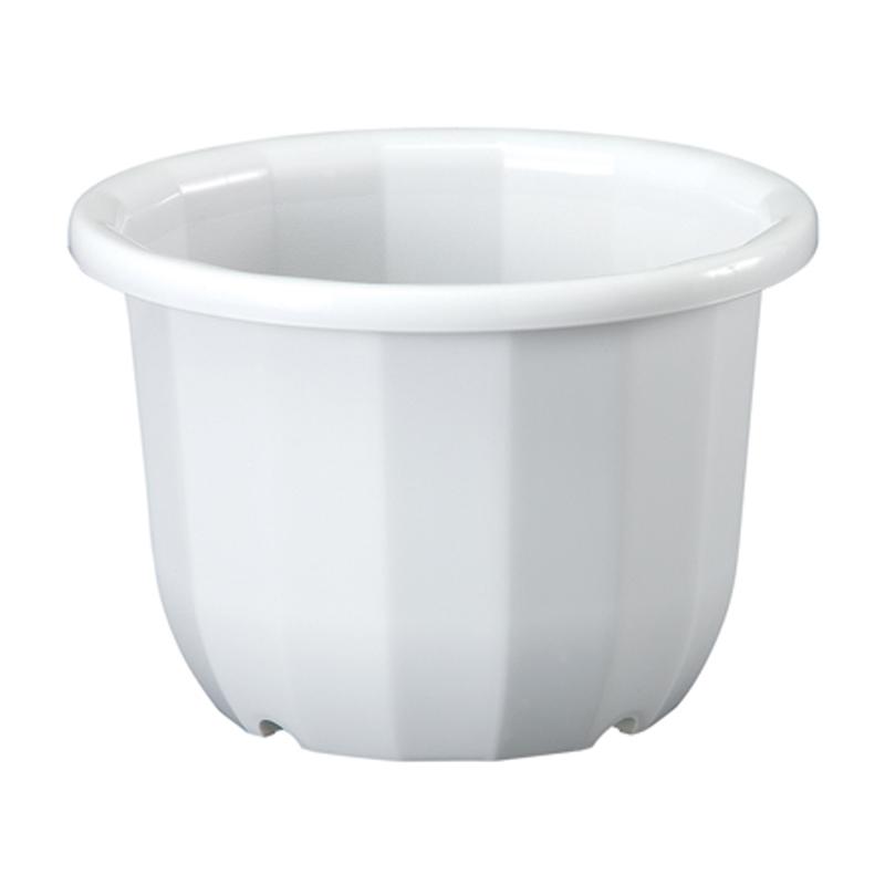 60個 中輪鉢 6号 ホワイト ポット 鉢 植え替え ベーシックポット ヤマト タ種 代引不可 大和