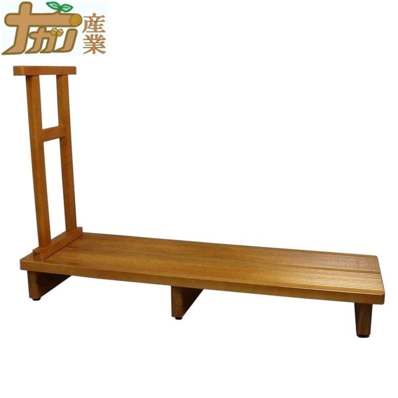 ポプラ製 足裏爽やか厚板玄関台 180cm幅 ギザギザ健康足踏み仕上げ 木製手すり付き ポプラ 玄関 ナガノ産業 ナG 代引不可