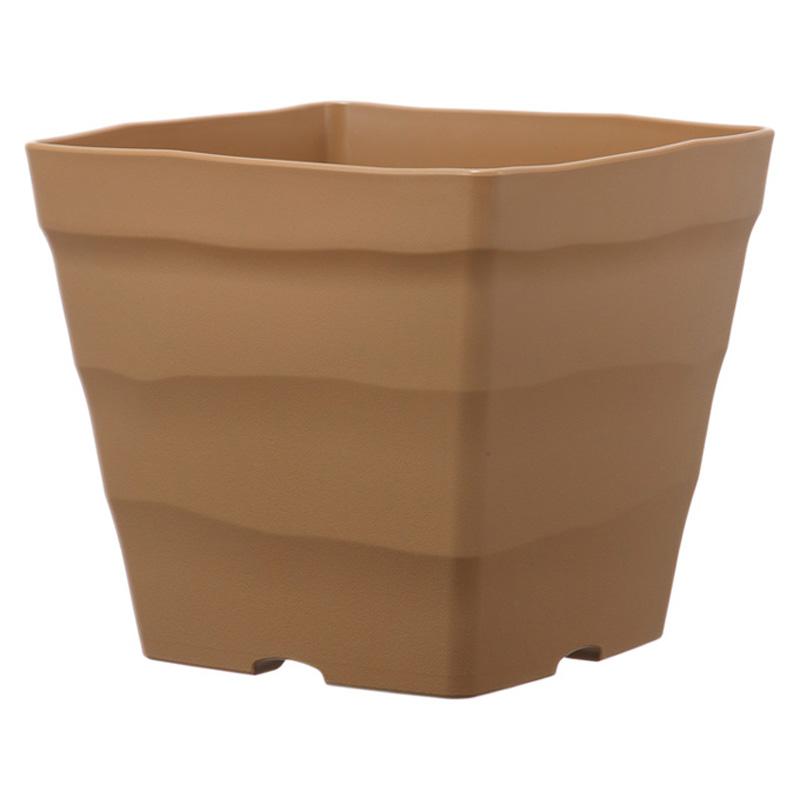 【個人宅配送不可】【北海道配送不可】【20個】 30型 ブラウン クラフトスクエア ポット 鉢 おしゃれ アップルウェアー タ種 【送料無料】【代引不可】
