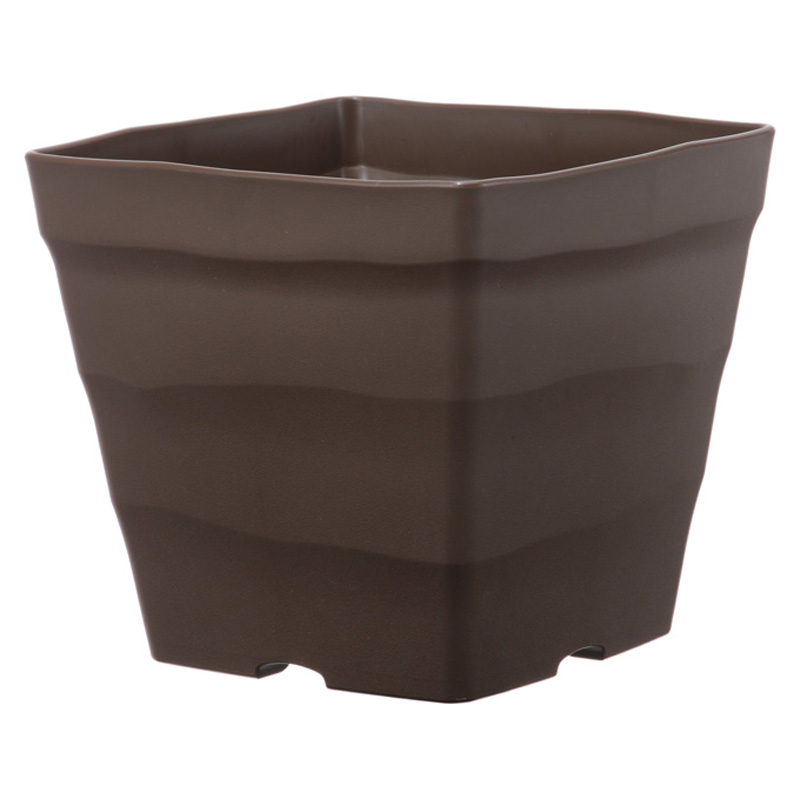 【個人宅配送不可】【北海道配送不可】【30個】 25型 ダークブラウン クラフトスクエア ポット 鉢 おしゃれ アップルウェアー タ種 【送料無料】【代引不可】