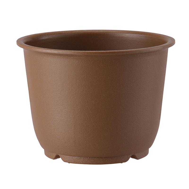 【個人宅配送不可】【北海道配送不可】【80個】 5号 きん茶 陶鉢 輪型 ポット 鉢 おしゃれ アップルウェアー タ種 【送料無料】【代引不可】