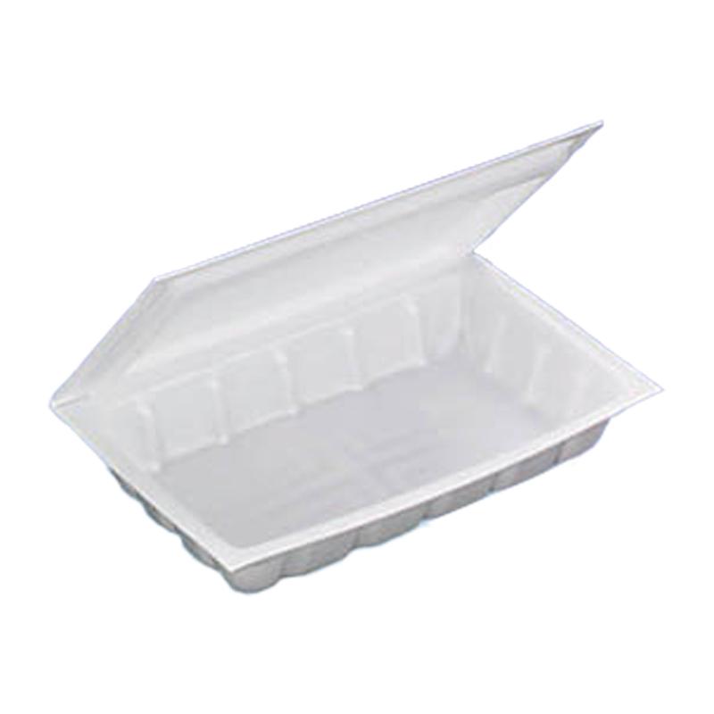 【個人宅配送不可】【1000枚】 G-3折蓋小 179 × 118 × 高 30 mm PSP(高) 【21520】 弁当容器 食品容器 デンカポリマー Sモ【代引不可】