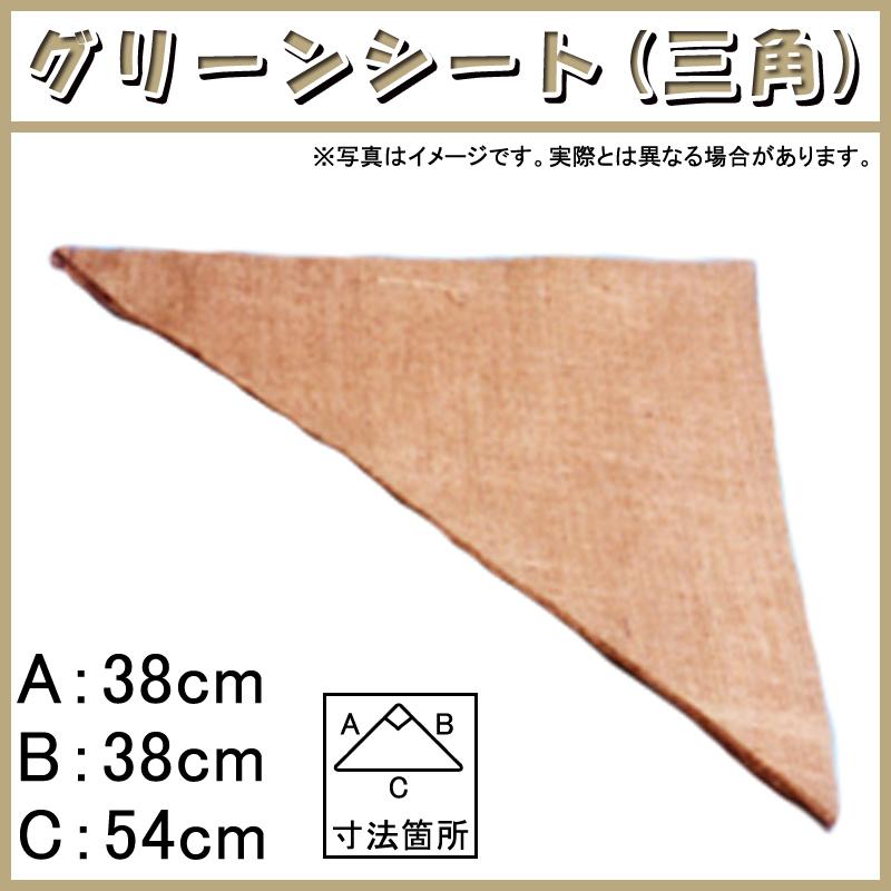 【1200枚】 グリーンシート 三角 38 38cm × 38cm × 54cm 早S【代引不可】