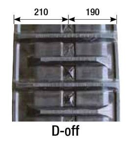 個人宅配送不可 KBL コンバイン用 ゴムクローラ 4036NS 幅400×ピッチ90×リンク36 D-off クローラー ケービーエル 代引不可