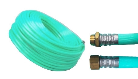 十川ゴム 動噴ホース グリーン軽量スプレーホース 5.0Mpa 13mm×130m金具付 防J 送料無料 代引不可