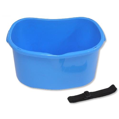 【個人宅配送不可】 【20個】散布桶 18型 ブルー 容量 約17L 安全興業 【送料無料】 【代引不可】