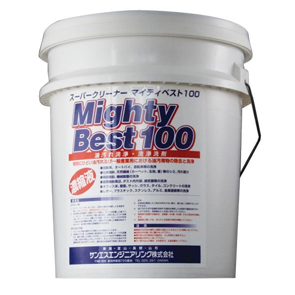 マイティベスト100 低発泡 油汚れ 洗剤 万能クリーナー 自動車 重機 建機 の油汚れ に 20L サンエスエンジニアリング オK 代引不可