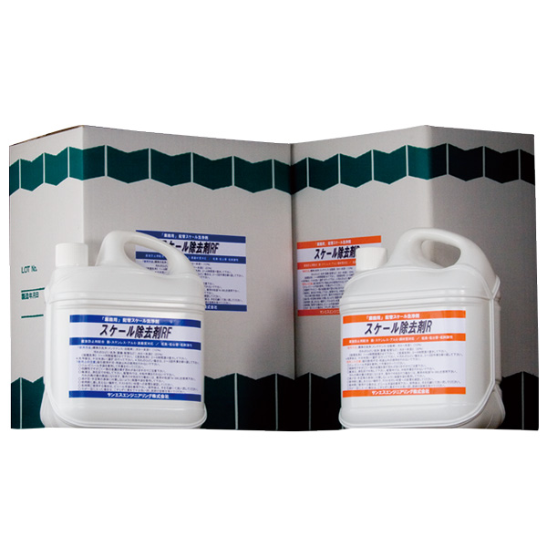 スケール 除去剤 R [ 配管 内部 洗浄剤 ]4.5L×4本入 サンエスエンジニアリング オK【代引不可】
