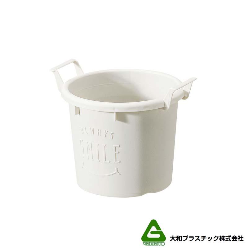 [120個] グロウコンテナ 12型 ホワイト 大和プラスチック 0.6L 140×120×H112mm プランター 丸型 ポット 白 鉢 タ種 送料無料 代引不可