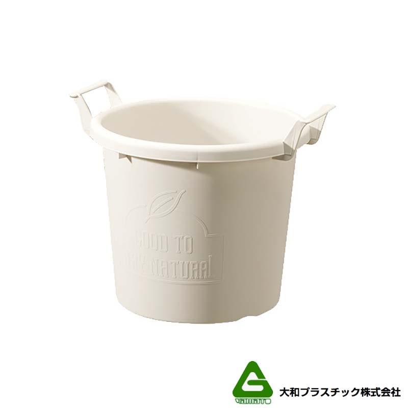 [20個] グロウコンテナ 35型 ホワイト 大和プラスチック 18.0L 410×350×H335mm プランター 丸型 ポット 白 鉢 タ種 送料無料 代引不可