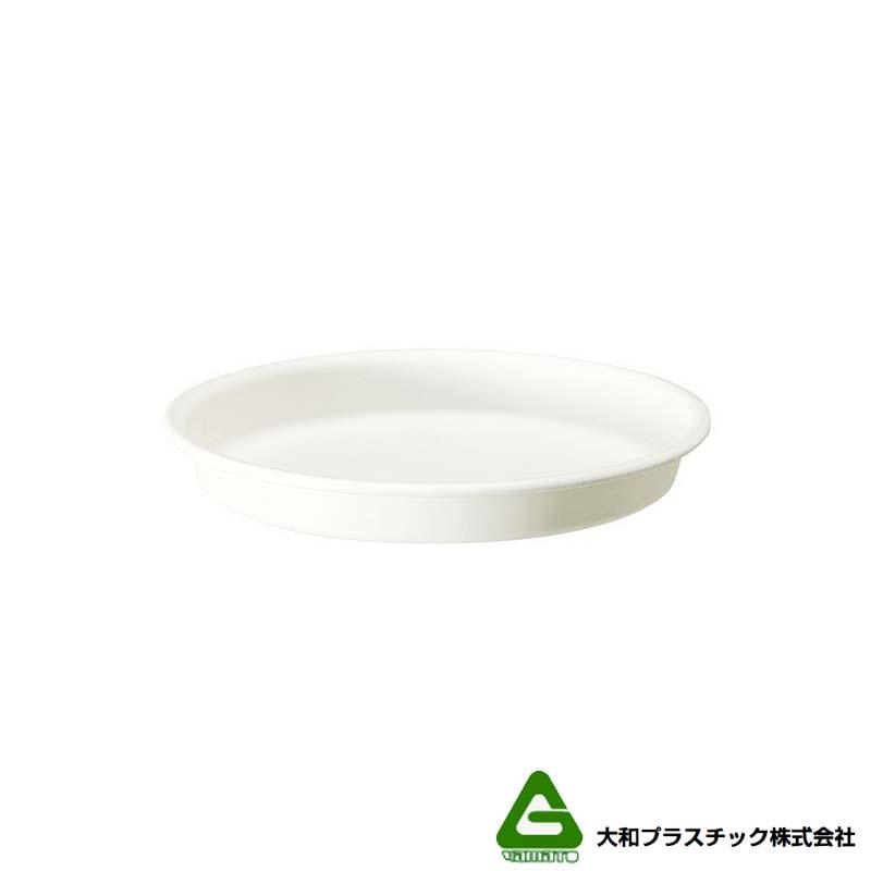 [180個] グロウプレート 12型 ホワイト 大和プラスチック 直径114×H18mm 受皿 グロウコンテナ用 蓋 丸型 鉢皿 タ種 送料無料 代引不可