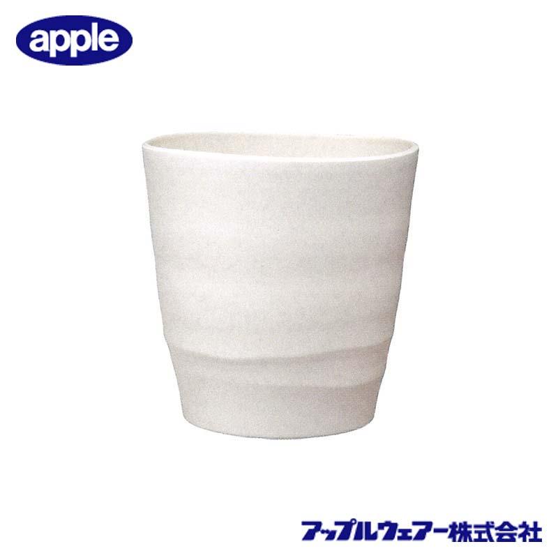 [16個] アトリエポット 30型 ホワイト アップルウェア― 直径300×303mm インナーポットサイズ 8号鉢 陶器風 シンプル 丸型 白 鉢 タ種 送料無料 代引不可