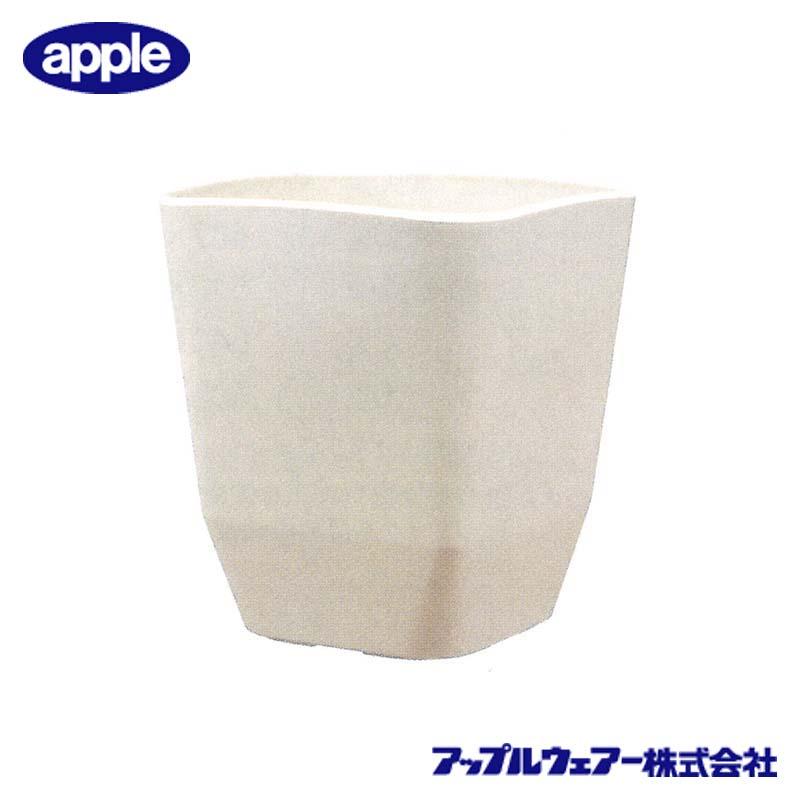 [10個] アトリエスクエア 360型 ホワイト アップルウェア― 360×360×387mm インナーポットサイズ 10号鉢 陶器風 シンプル 角型 白 鉢 タ種 送料無料 代引不可