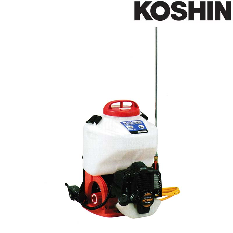 エンジン動噴 ES-10PDX 容量10L 最高圧力3.0MPa [縦型二頭口 / カバー付泡状除草噴口] 重量6.9kg 工進 KOSHIN 背負式 消毒 除草 散布 シB 送料無料 代引不可