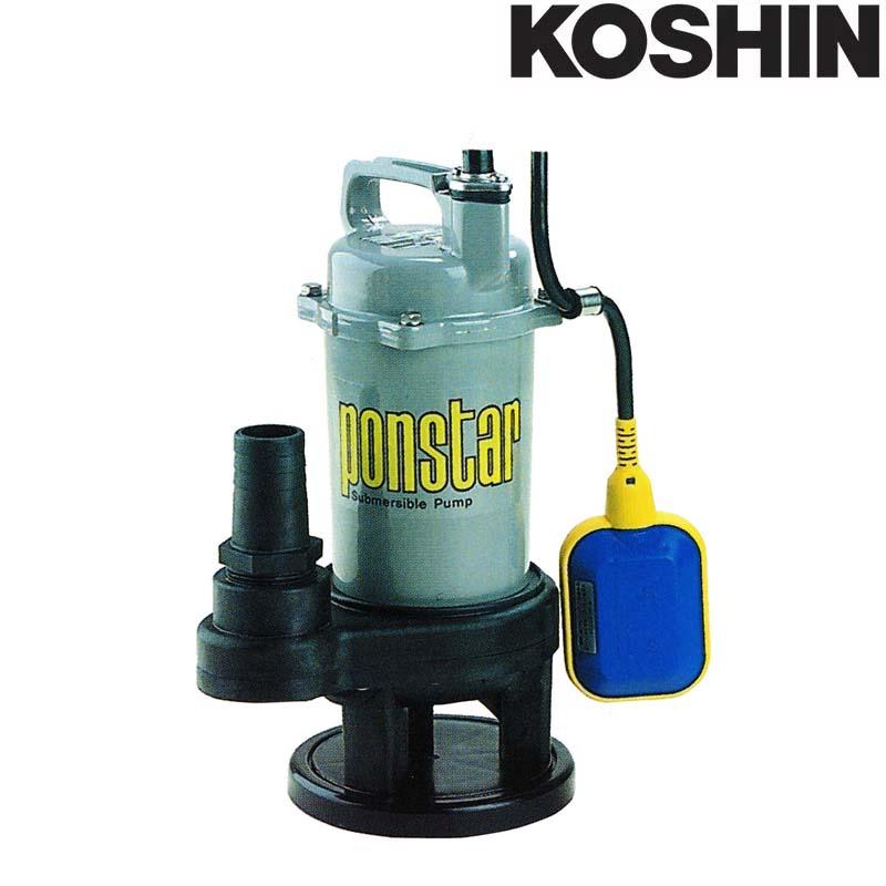 汚物用水中ポンプ ポンスター PSK-640XA [60Hz] フロートスイッチ付 口径40mm 全揚程6m 重量5.6kg 工進 KOSHIN 排水 給水 シB 送料無料 代引不可
