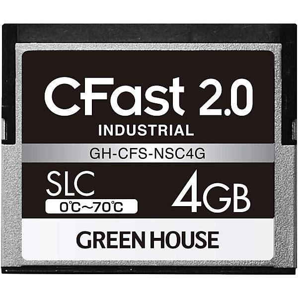 【送料無料】グリーンハウス GH-CFS-NSC4G CFast2.0 SLC 0度~70度 4GB 3年保証【在庫目安:お取り寄せ】