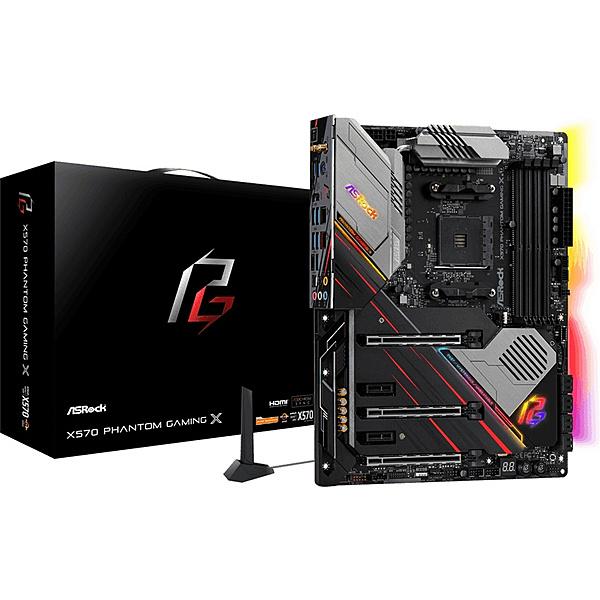【送料無料】ASRock X570 Phantom Gaming X AMD Ryzen 3000シリーズ CPU(Soket AM4)対応 X570チップセット搭載 ATXマザーボード【在庫目安:お取り寄せ】| パソコン周辺機器 マザーボード マザボ