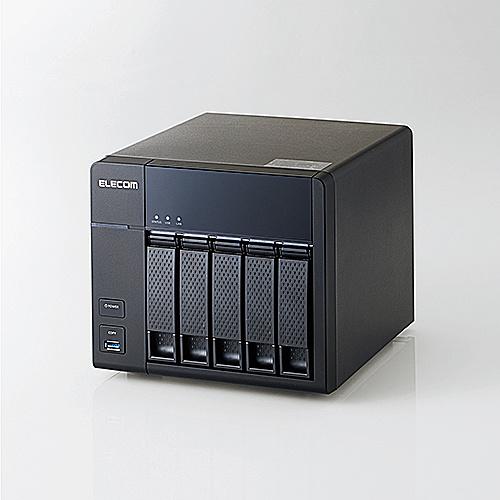 【送料無料】ELECOM KTB-7A12T5BL NASキッティング/ 初期設定/ バックアップ設定/ USB-HDD付き/ ELD-REN080UBK/ LinuxNAS/ 5Bay4ドライブ版/ 12TB/ NetStor7シリーズ【在庫目安:お取り寄せ】  NAS RAID レイド