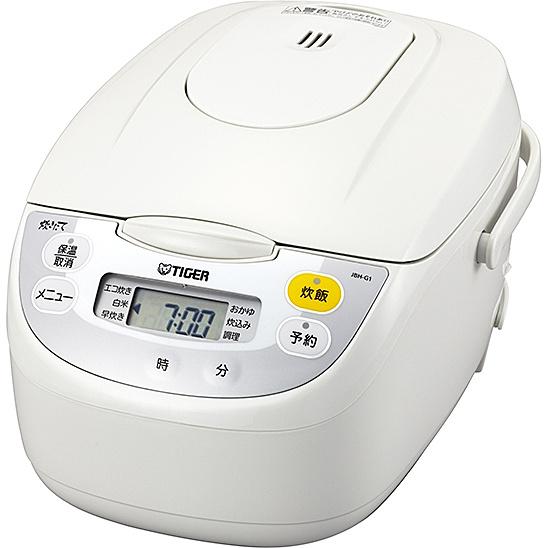 【送料無料】タイガー魔法瓶 JBH-G181W マイコン炊飯ジャー <炊きたて> 1升 ホワイト【在庫目安:お取り寄せ】| キッチン家電 電子ジャー 家族 ジャー ご飯 ごはん 新生活