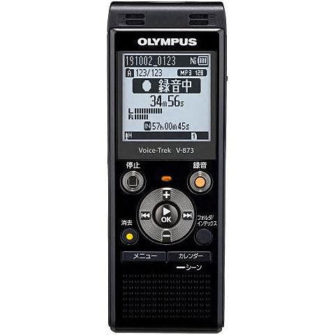 【送料無料】OLYMPUS V-873 BLK ICレコーダー Voice-Trek V-873 ピアノブラック【在庫目安:お取り寄せ】