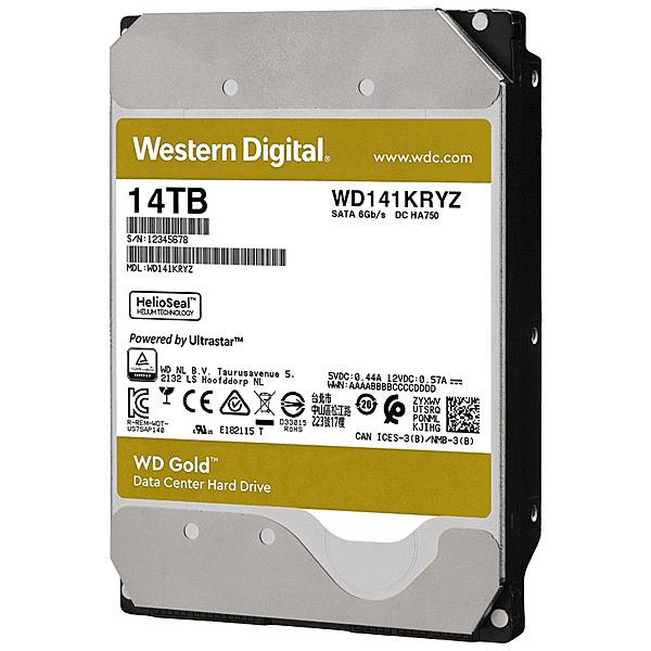 【送料無料】WESTERN DIGITAL 0718037-872674 WD Goldシリーズ 3.5インチ内蔵HDD 14TB SATA6.0Gb/ s 7200rpm/ class 512MBキャッシュ搭載【在庫目安:お取り寄せ】| パソコン周辺機器