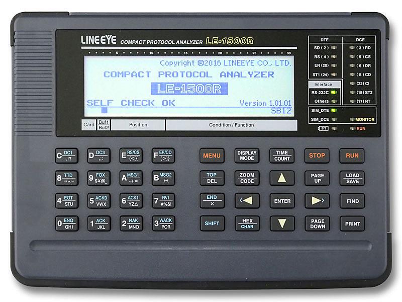 【送料無料】ラインアイ LE-1500R コンパクトプロトコルアナライザー 500kbps 調歩同期通信専用モデル【在庫目安:お取り寄せ】