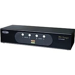 【送料無料】コレガ CG-PC4KVMC-W 法人向け PC4台用 PS/ 2&USBコンボ、VGA対応、パソコン自動切替器(ボックスタイプ) WEBモデル【在庫目安:お取り寄せ】