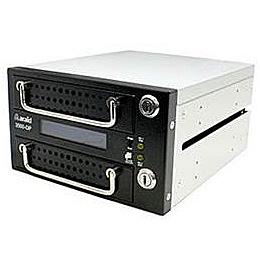【送料無料】Accordance ARAID3500GP-A/M-B 2bays SATA to SATA LCD付内蔵型ミラーユニット メタルトレイ 黒【在庫目安:お取り寄せ】