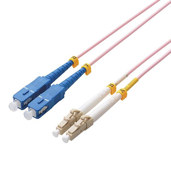 【送料無料】ELECOM OC-LCSC5OM3/1 光ファイバーケーブル/ マルチモード/ 10G/ LC-SC/ 1m【在庫目安:お取り寄せ】