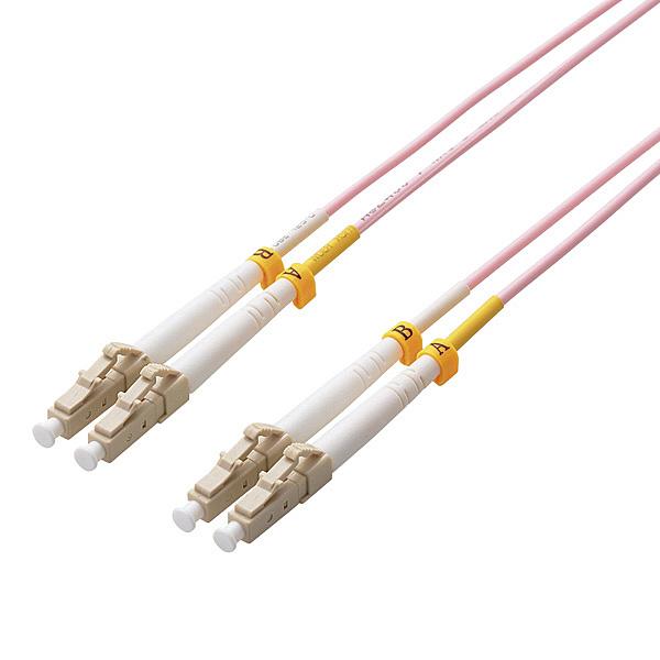【送料無料】ELECOM OC-LCLC5OM3/5 光ファイバーケーブル/ マルチモード/ 10G/ LC-LC/ 5m【在庫目安:お取り寄せ】