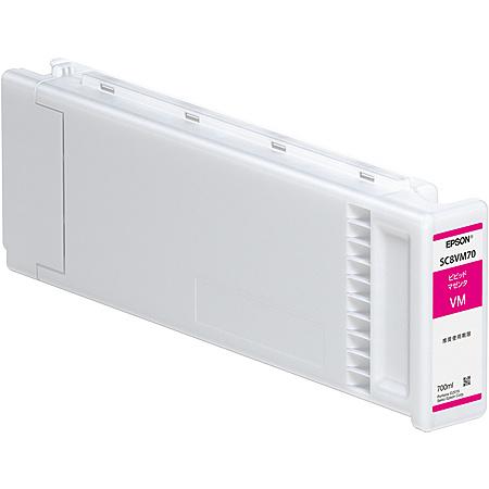 【送料無料】EPSON SC8VM70 SureColor用 インクカートリッジ/ 700ml(ビビッドマゼンタ)【在庫目安:お取り寄せ】| 消耗品 インク インクカートリッジ インクタンク 純正 インクジェット プリンタ 交換 新品 マゼンタ