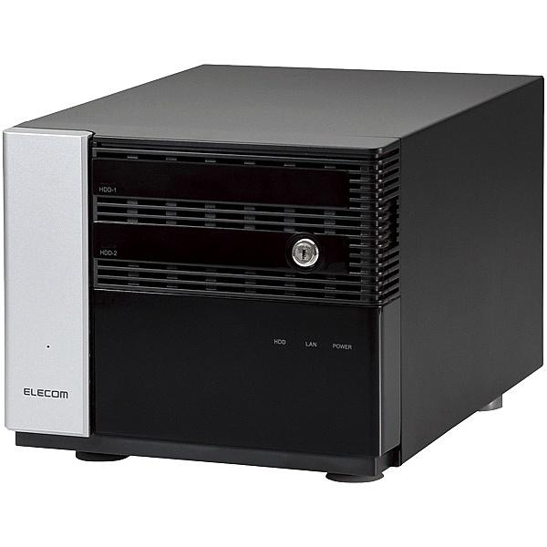 【送料無料】ELECOM NSB-7MS2T2CS6 Windows Storage Sever 2016 Standard搭載NAS/ 2Bay/ Cube型/ 2TB/ QuadCore採用/ RAID1(ミラー)【在庫目安:お取り寄せ】| パソコン周辺機器 WindowsNAS Windows Nas RAID 外付け 外付