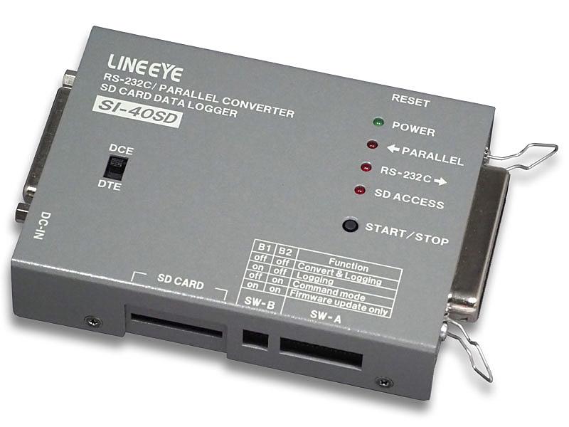 【送料無料】ラインアイ SI-40SD インターフェースコンバータ セントロニクス<=>RS-232C データロガータイプ【在庫目安:お取り寄せ】| パソコン周辺機器 インターフェース 拡張 ユニットオプション PC パソコン