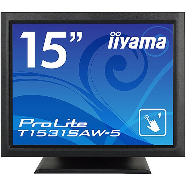 【送料無料】iiyama T1531SAW-B5 15型タッチパネル液晶ディスプレイ ProLite T1531SAW-5 (超音波方式/ USB通信/ シングルタッチ/ 防塵防滴/ D-SUB/ HDMI/ DP) ブラック【在庫目安:お取り寄せ】
