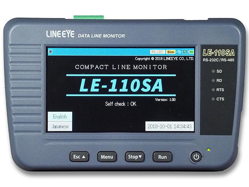 【送料無料】ラインアイ LE-110SA データラインモニター RS-232C、RS-422/ 485対応【在庫目安:お取り寄せ】