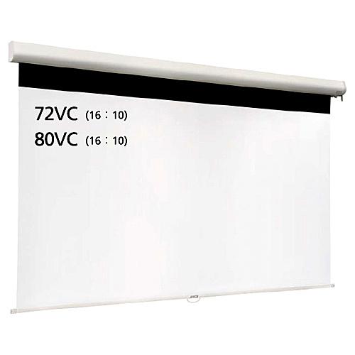 【送料無料】泉 IS-WOL80VC スプリングロール式マグネットスクリーン 80インチ 16:10【在庫目安:お取り寄せ】| 表示装置 スクリーン 投影 プロジェクター プロジェクタ 型 インチ 吊下 壁掛