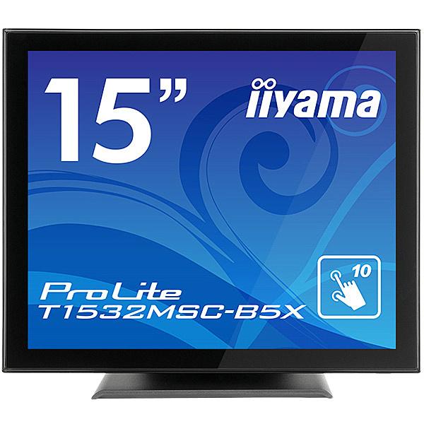 【送料無料】iiyama T1532MSC-B5X 15型タッチパネル液晶ディスプレイ ProLite T1532MSC-5 (静電容量方式/ USB通信/ マルチタッチ/ 防塵防滴/ D-SUB/ HDMI/ DP) ブラック【在庫目安:お取り寄せ】