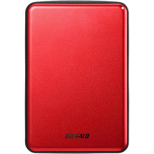 【送料無料】バッファロー HD-PUS1.0U3-RDD USB3.1(Gen.1)対応 アルミ素材&薄型ポータブルHDD 1TB レッド【在庫目安:お取り寄せ】| パソコン周辺機器 ポータブル
