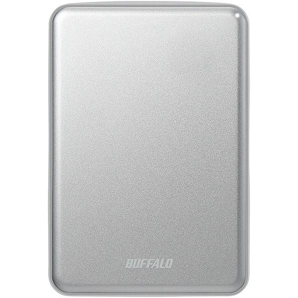 【送料無料】バッファロー HD-PUS2.0U3-SVD USB3.1(Gen.1)対応 アルミ素材&薄型ポータブルHDD 2TB シルバー【在庫目安:お取り寄せ】| パソコン周辺機器 ポータブル