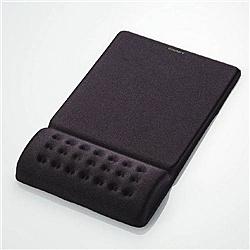 【在庫目安:あり】ELECOM MP-095BK 疲労軽減リストレスト一体型マウスパッド/ COMFY/ ソフト(ブラック)  パソコン周辺機器 マウスパッド マウス パッド ゲーミング 手首 疲れ ズレ パソコン PC