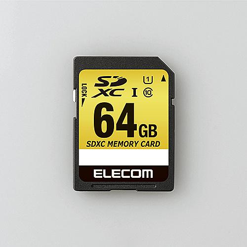 【送料無料】ELECOM MF-CASD064GU11A SDXCカード/ 車載用/ MLC/ UHS-I/ 64GB【在庫目安:お取り寄せ】