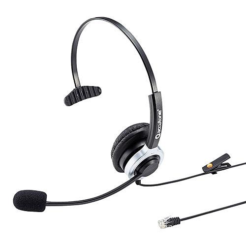 【送料無料】サンワサプライ MM-HSRJ02 電話用ヘッドセット(片耳タイプ)【在庫目安:お取り寄せ】