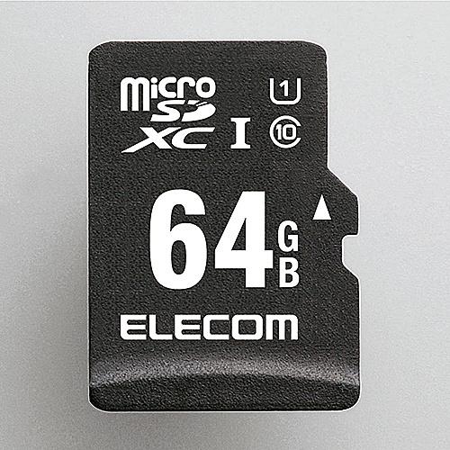 【送料無料】ELECOM MF-CAMR064GU11A microSDXCカード/ 車載用/ MLC/ UHS-I/ 64GB【在庫目安:お取り寄せ】