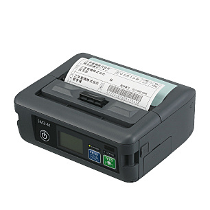 【送料無料】三栄電機 SM2-41WL 紙幅112mmラベル対応モバイルタイプライン印字方式小型サーマルプリンタ(Bluetooth・USB・シリアル・WiFi、ラベル剥離モデル)【在庫目安:お取り寄せ】  プリンタ サーマルプリンタ ラベルプリンタ