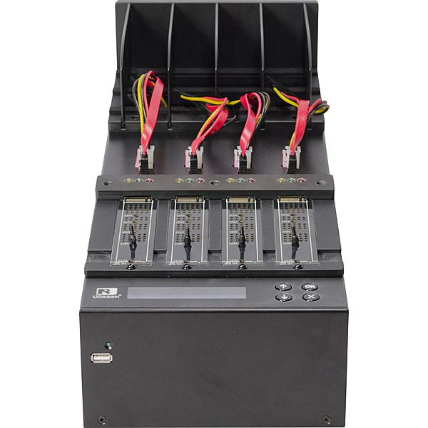 【送料無料】U-Reach Japan PW400H 1:3 M.2 SSD/ SATAデュプリケータ NVMe、NGFF M.2 SSDおよびSATA HDD/ SSDのコピー、消去が可能。M.2⇔SATAの相互コピーに対応。転送速度300MB/ 秒【在庫目安:お取り寄せ】