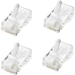 【送料無料】サンワサプライ ADT-6RJTS-100 ツメ折れ防止カテゴリ6 RJ-45コネクタ(100個セット)【在庫目安:お取り寄せ】| パソコン周辺機器 コネクタ コネクター プラグ モジュール