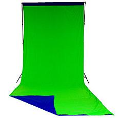 【送料無料】マンフロット LL LC5887 Lastolite クロマキーカーテン背景リバーシブル 3×7m ブルー/ グリーン【在庫目安:お取り寄せ】| カメラ レフ板 リフレクター 反射 ブツ撮り 物撮り