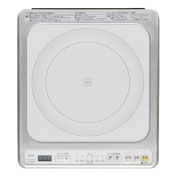【送料無料】アイリスオーヤマ IHC-B122-W ビルトインIH 200V ホワイト【在庫目安:僅少】